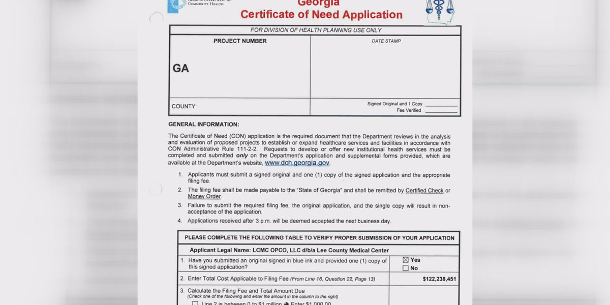 Background: DCH Certificate of Need Applications