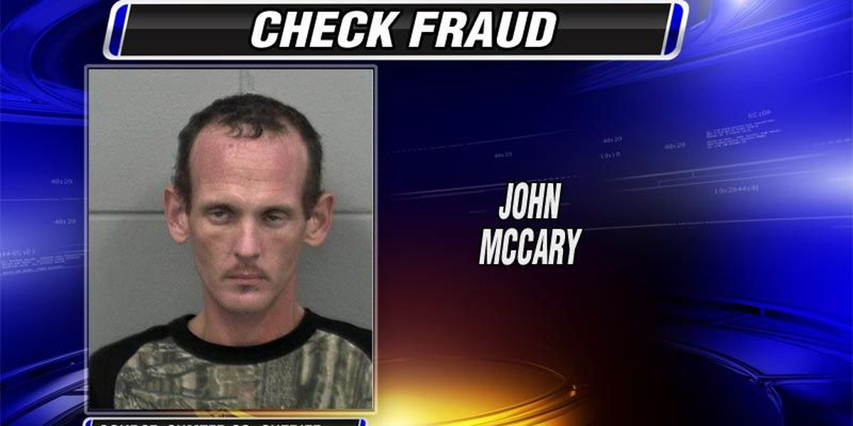 Macon man arrested in Sumter check fraud case