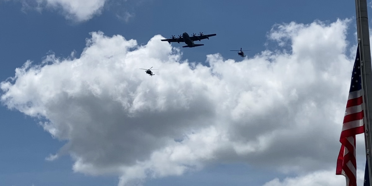 Moody Air Force Base honors healthcare workers with flyover