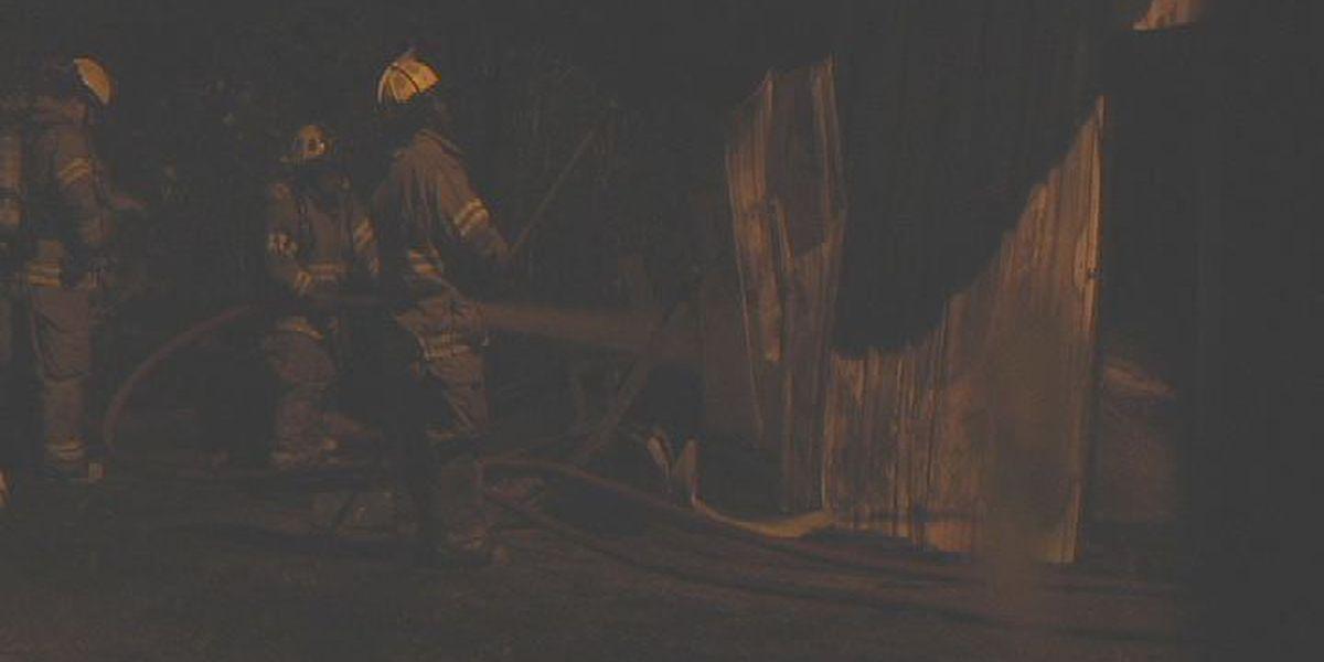 Arson destroys shed, three cars