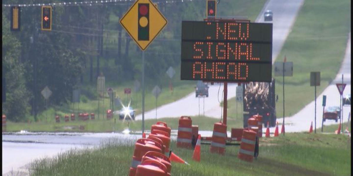 New traffic lights installed in front of high school
