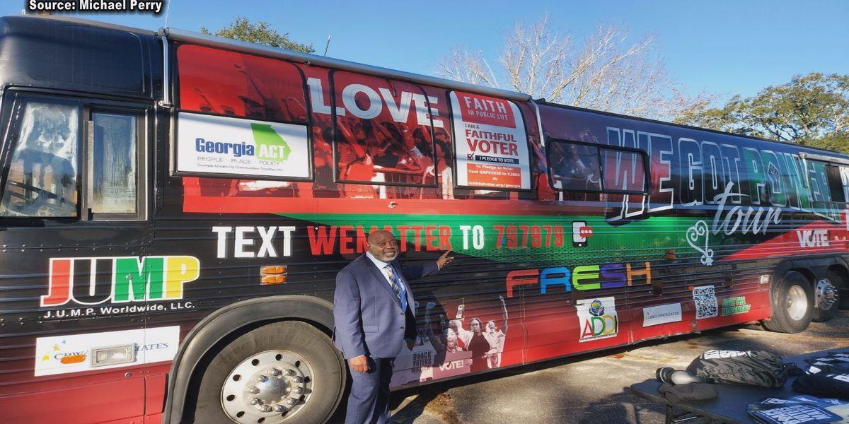 Black Voters Matter bus stops in Sylvester
