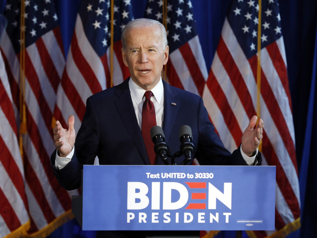 Biden looks to clinch nomination as 7 states, DC vote