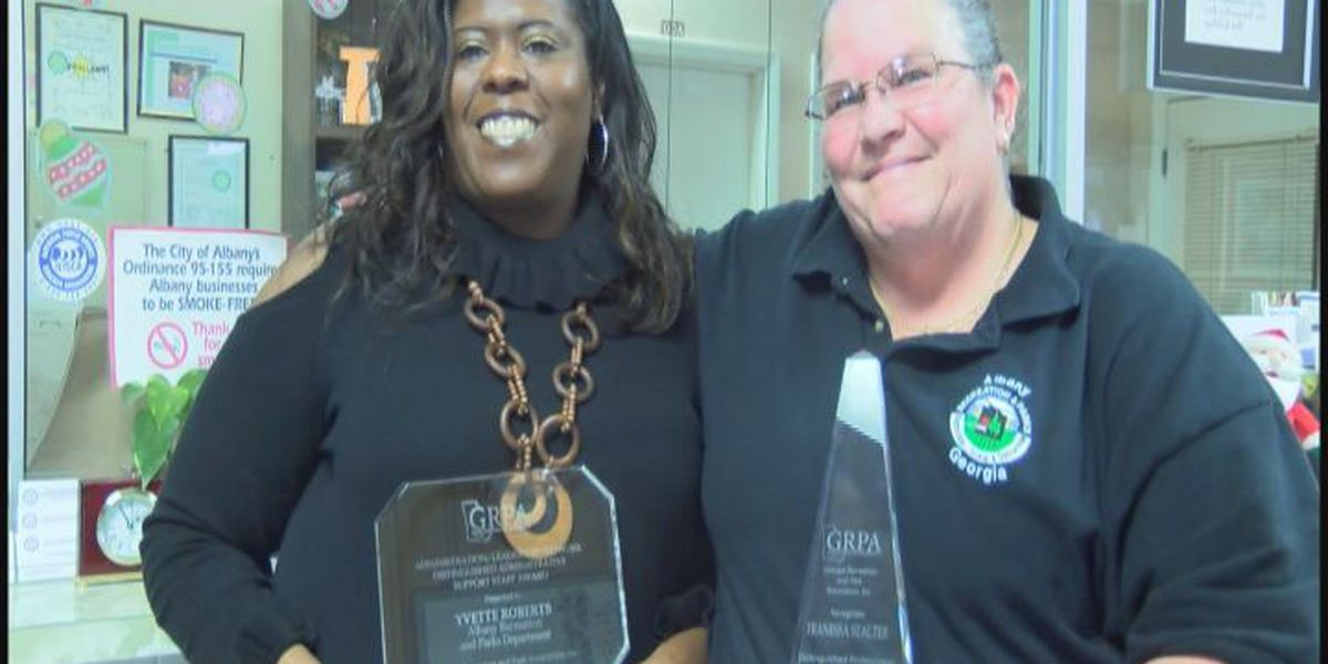 Local recreation department employees honored by state