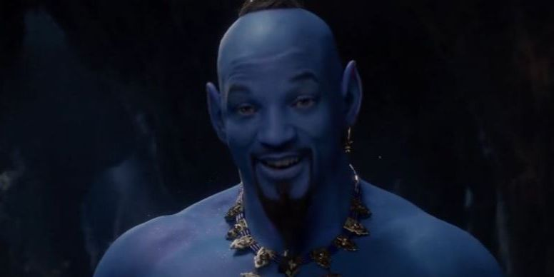 WATCH: 'Aladdin' trailer released during Grammys and, yes, Will Smith is blue and floating