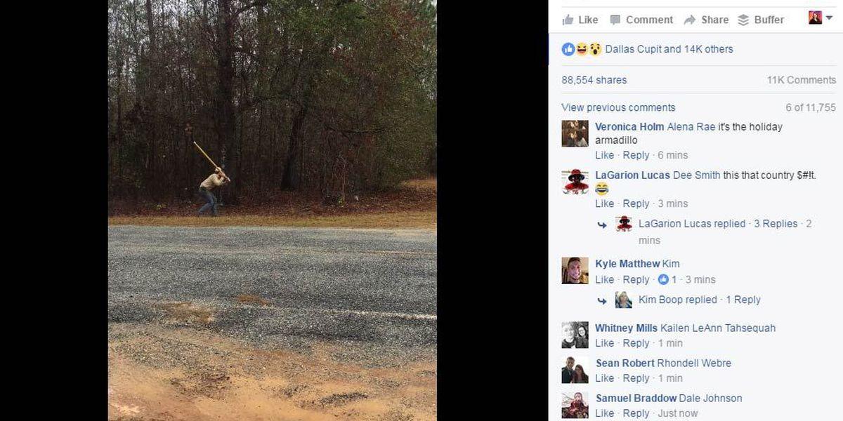 VIDEO: GA man has wacky encounter with armadillo