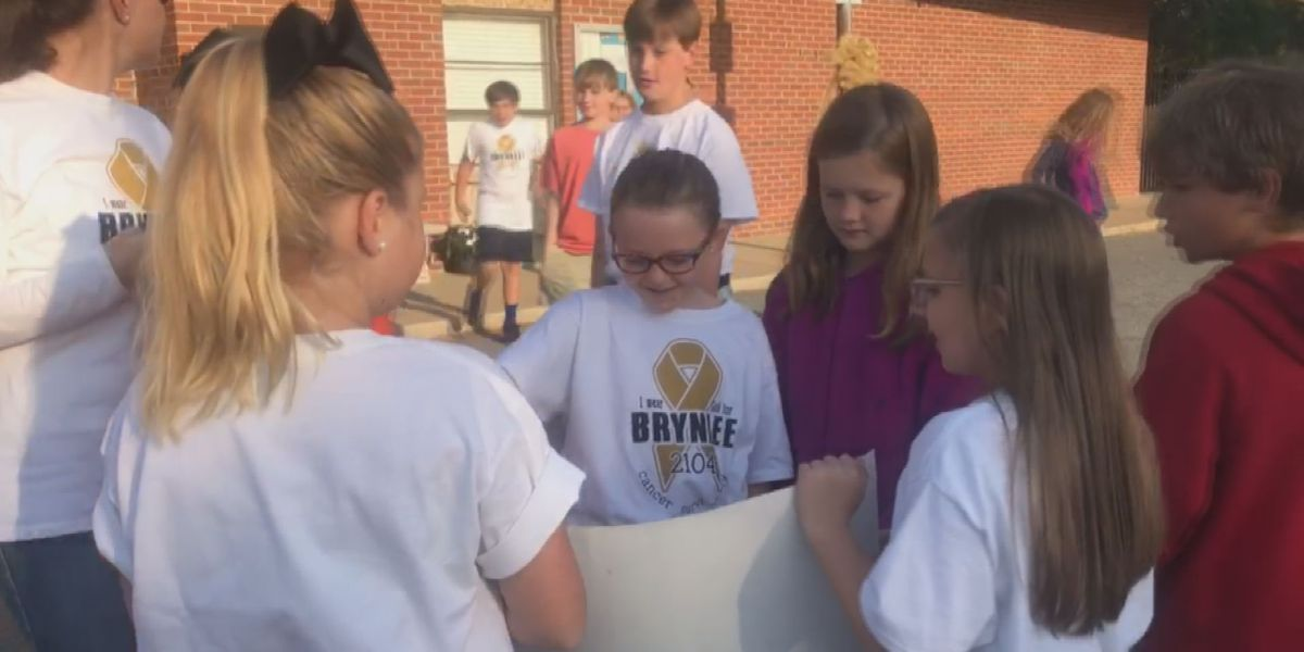 South GA school celebrates classmate's victory in battle against cancer