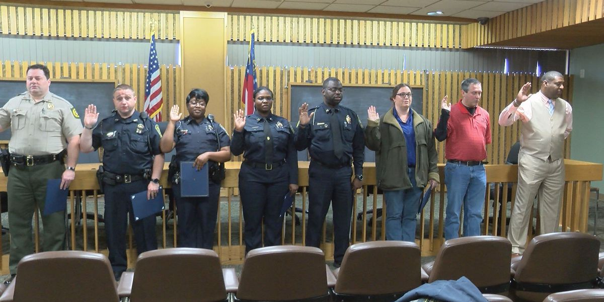 Police officers promoted and recognized for service