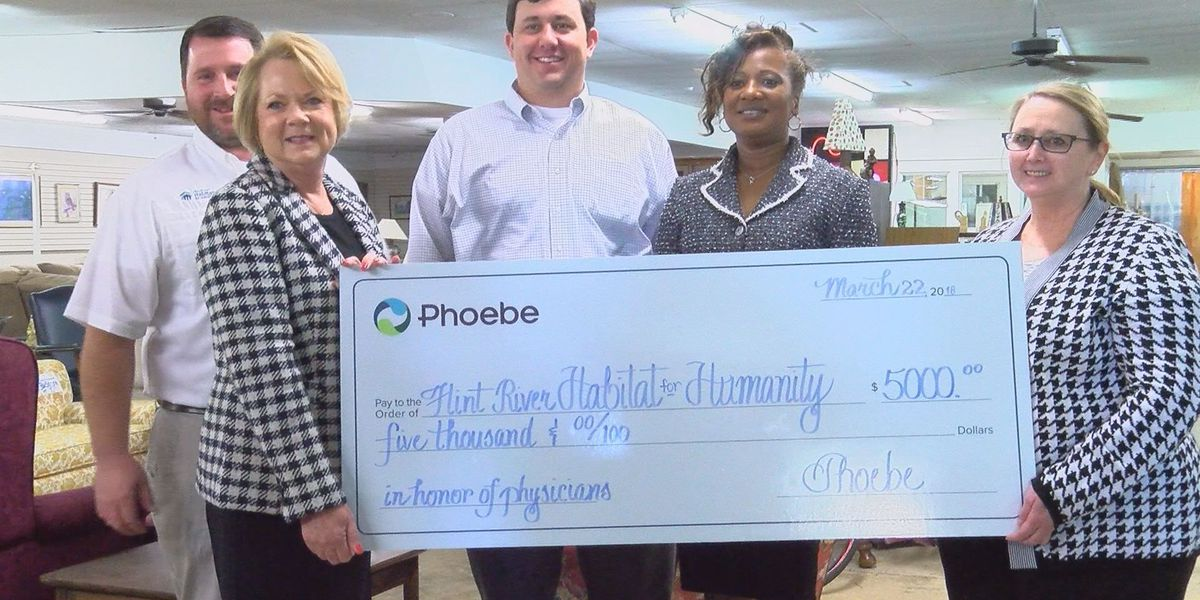 Phoebe doctors make community donation for National Doctor's Day