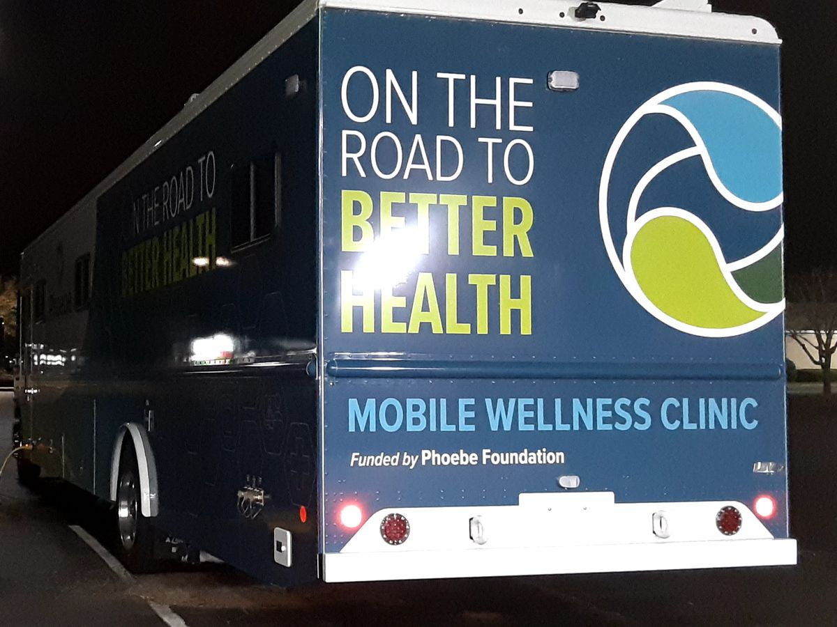 Phoebe Health, Let's Talk Radio and Staples triple team mobile vaccination clinic