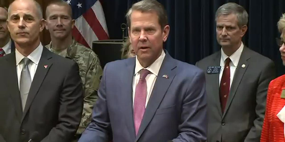 WATCH LIVE: Kemp addresses the state on COVID-19 latest