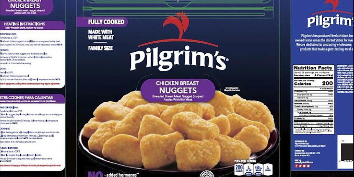 Pilgrim's Pride recalls nearly 60K pounds of chicken nuggets for possible rubber contamination