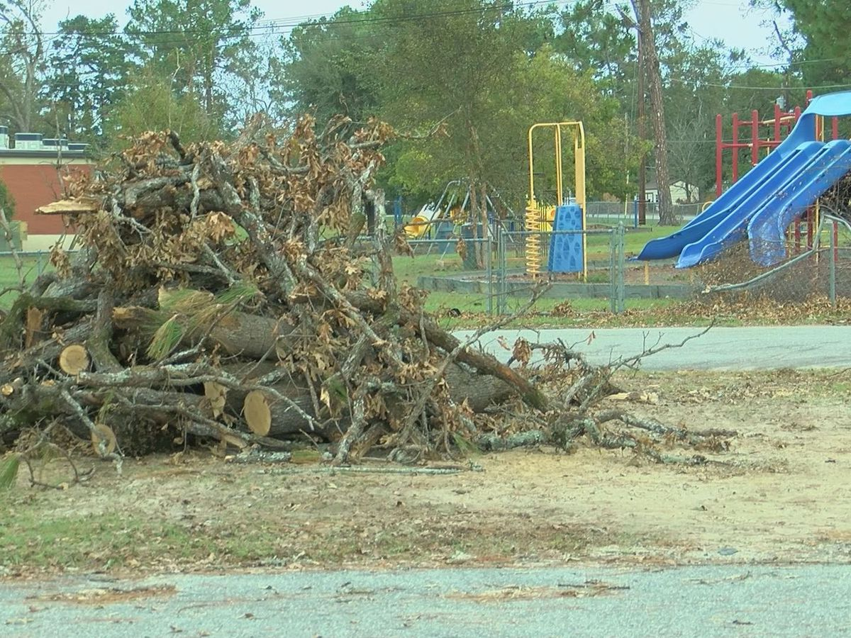Pelham City School buildings partially damaged during Hurricane Michael
