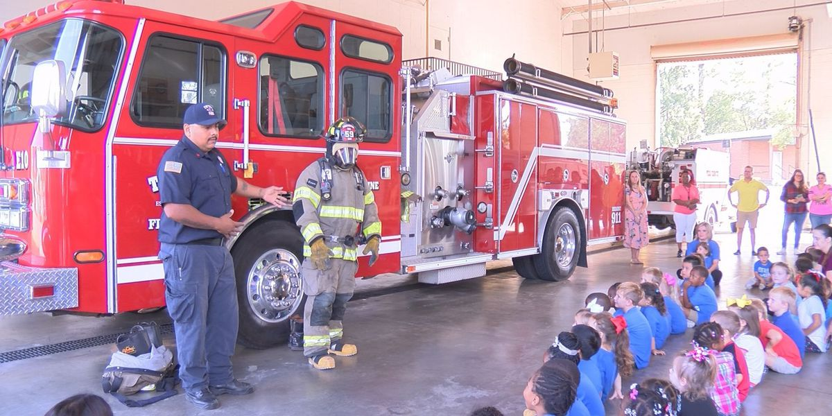 Pre-K students learn fire safety