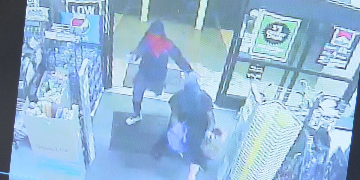 Two men drag store clerk by hair, steal cash, now on the loose