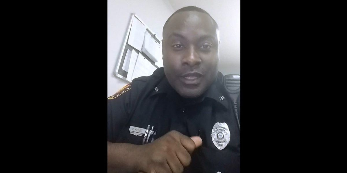 Police officer fed up with silence speaks mind in video