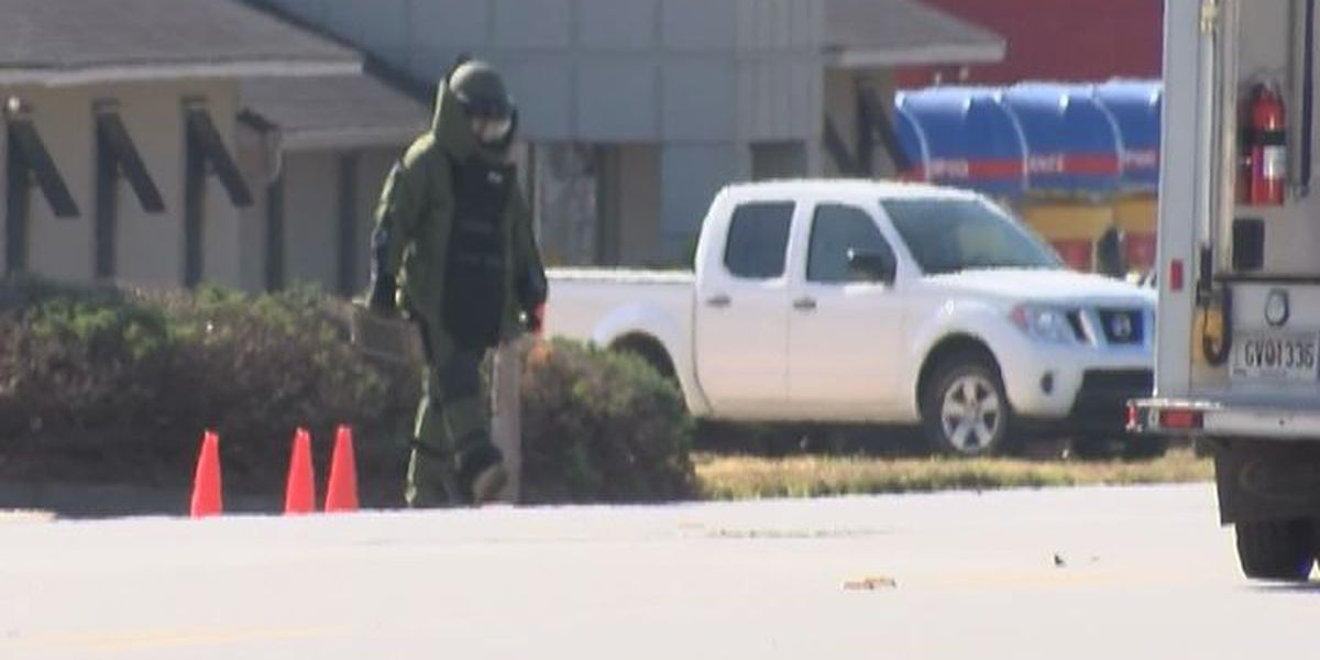 Bomb unit clears scene after 'suspicious package' found