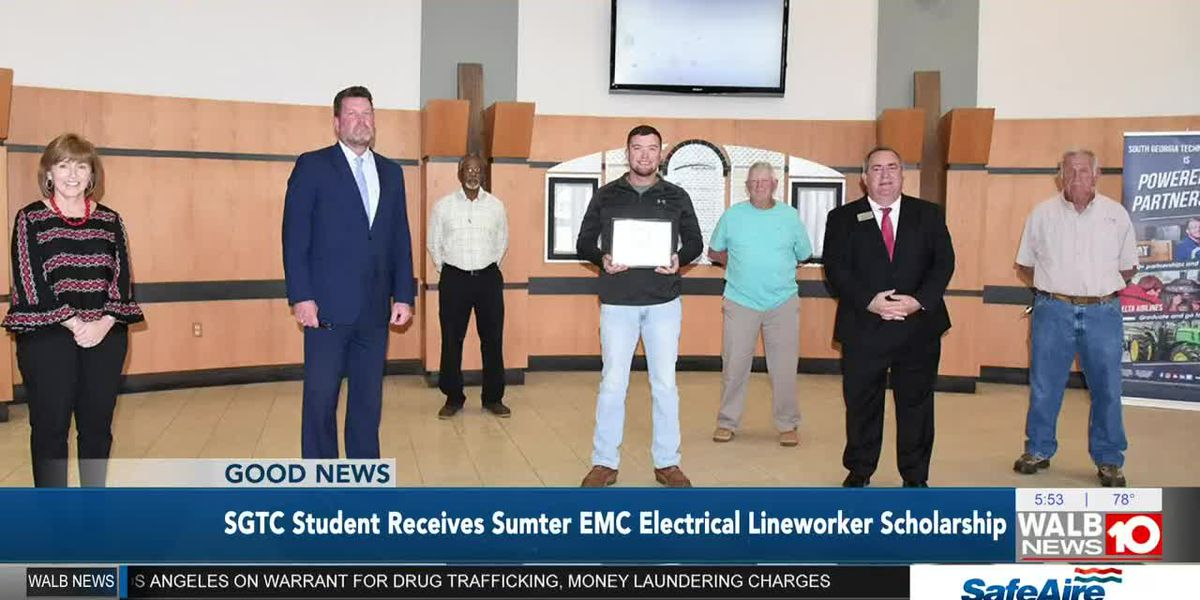 SGTC students gets electrical lineworker scholarship