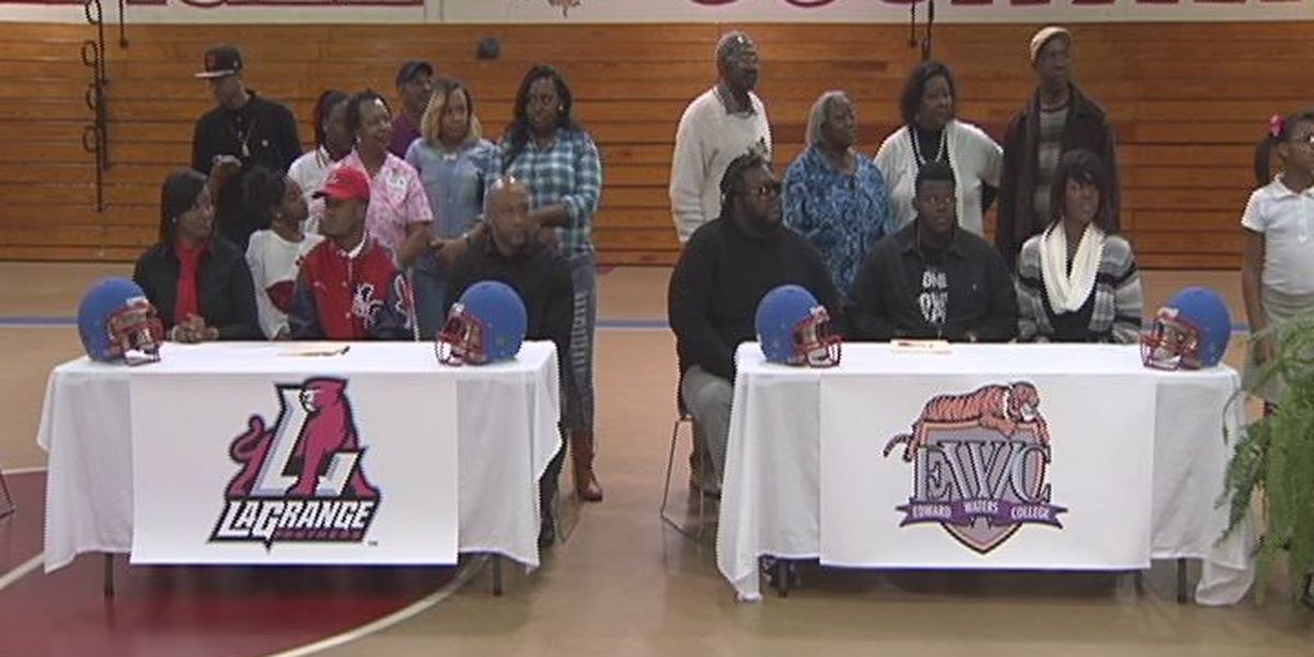 Four Mitchell Co. football players sign scholarships