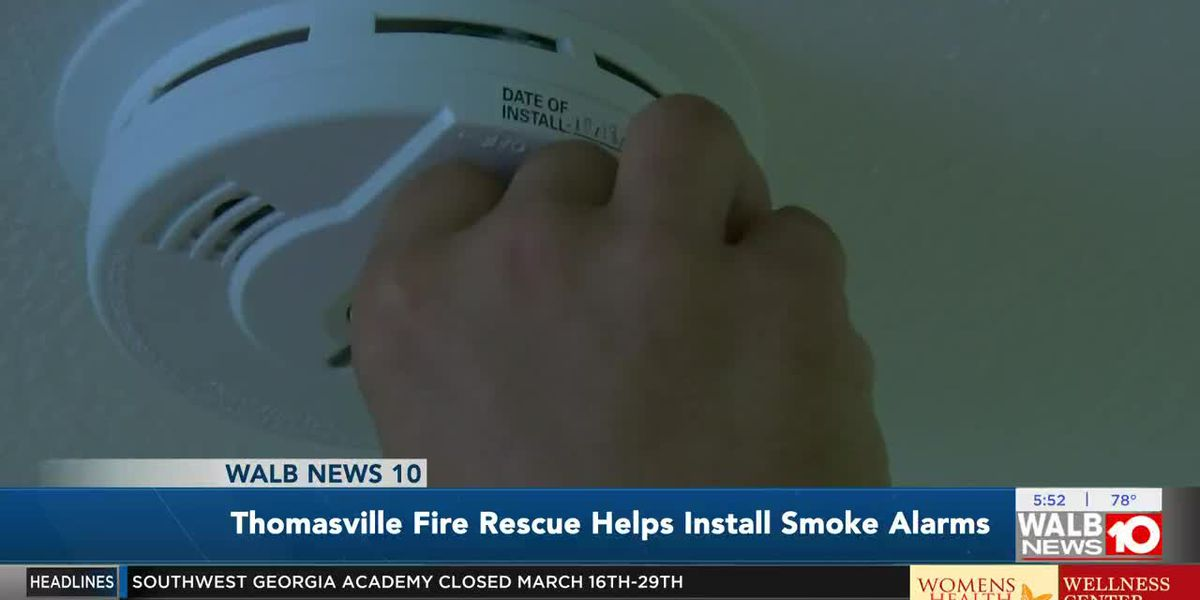 Thomasville Fire Rescue help install smoke alarms