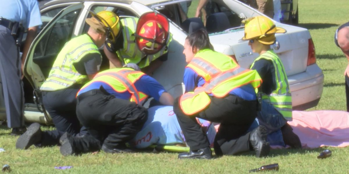 Cairo High gets mock crash drill ahead of prom