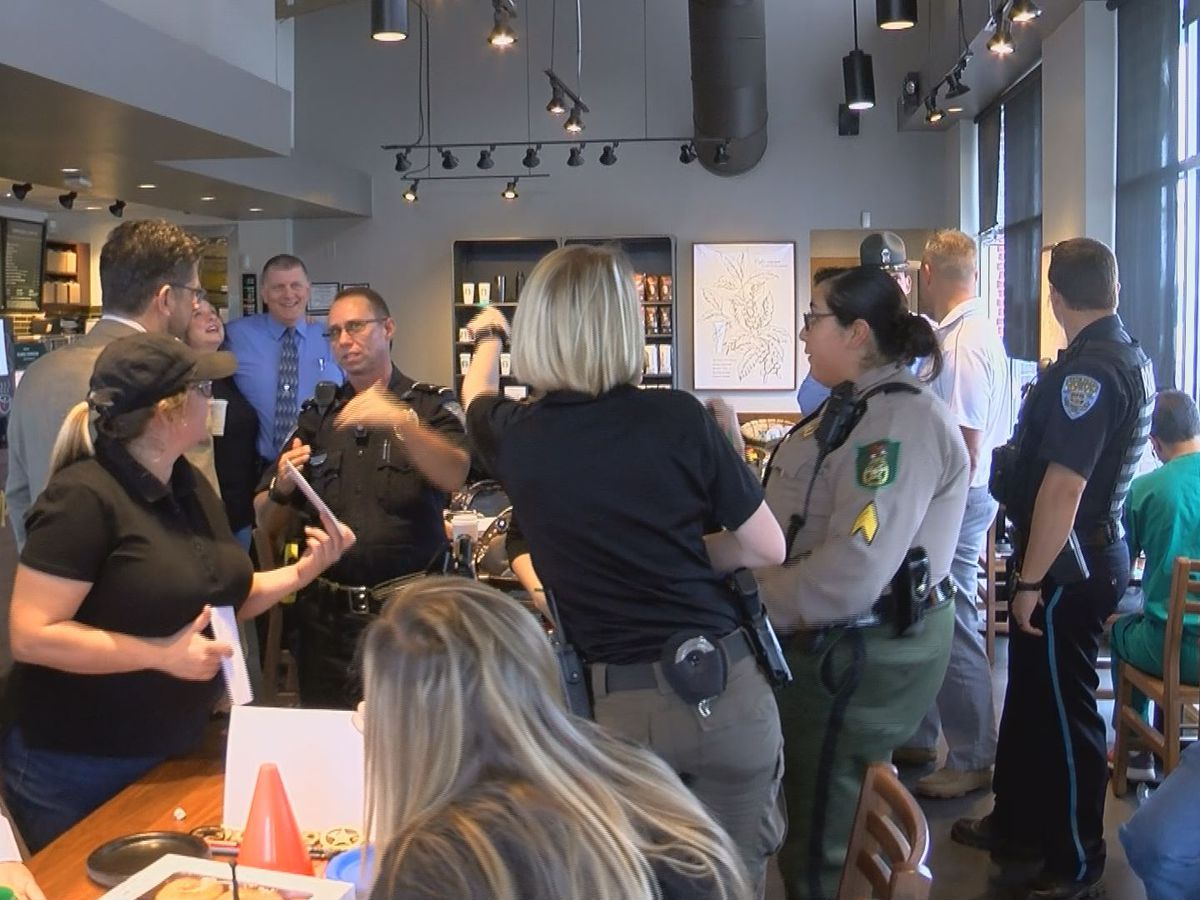 A cup and a chat: Tift Co. law enforcement hosts 'Coffee with a Cop'