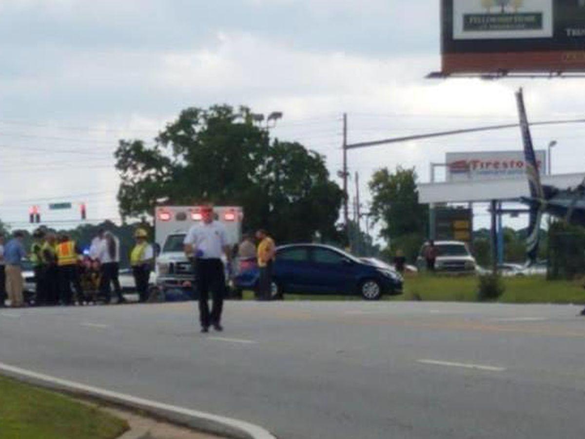 Valdosta motorcyclist injured in crash