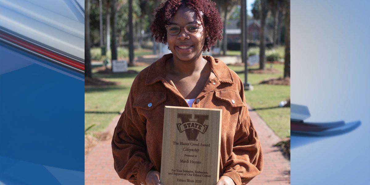 VSU student awarded 'Blazer Creed Award for Citizenship'