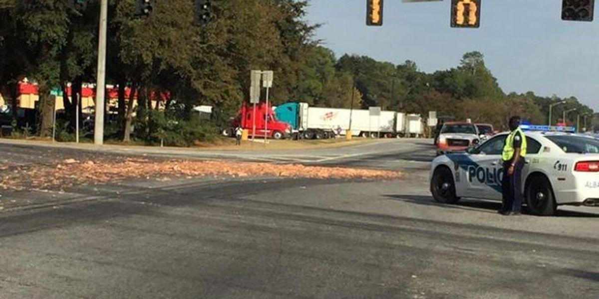 TRAFFIC ALERT: Truck carrying chicken innards spills on Clark Avenue