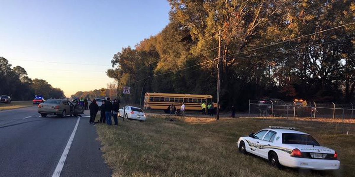 Man charged after collision with Dougherty Co. School bus