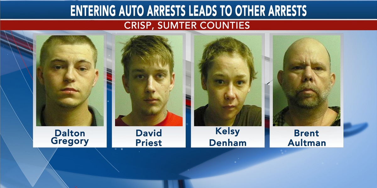 4 arrested for entering auto cases, guns in Crisp Co.