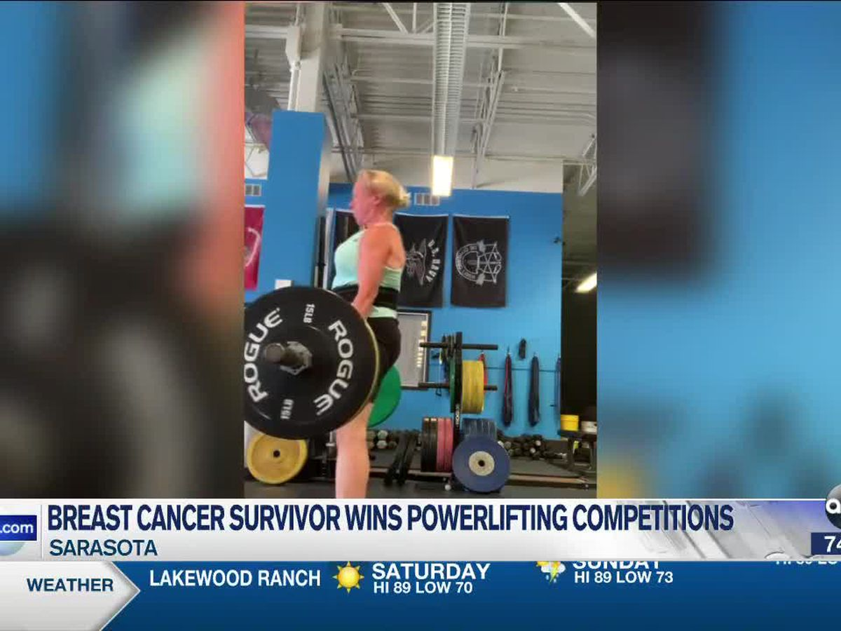 Breast Cancer survivor lifts weights for a cause