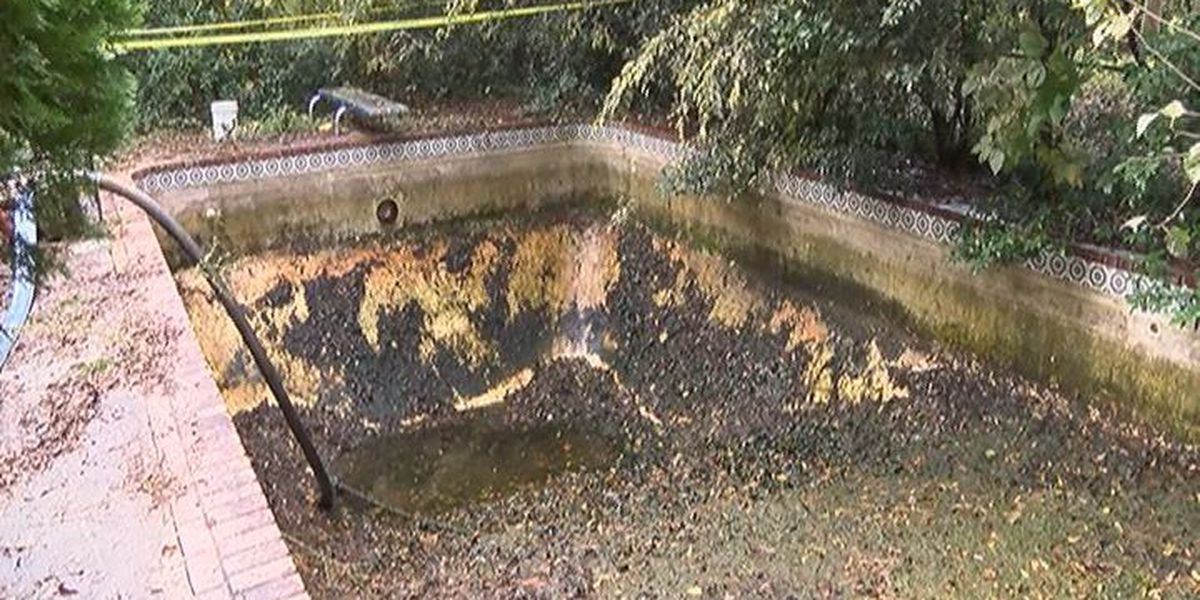 Nasty pool water drained