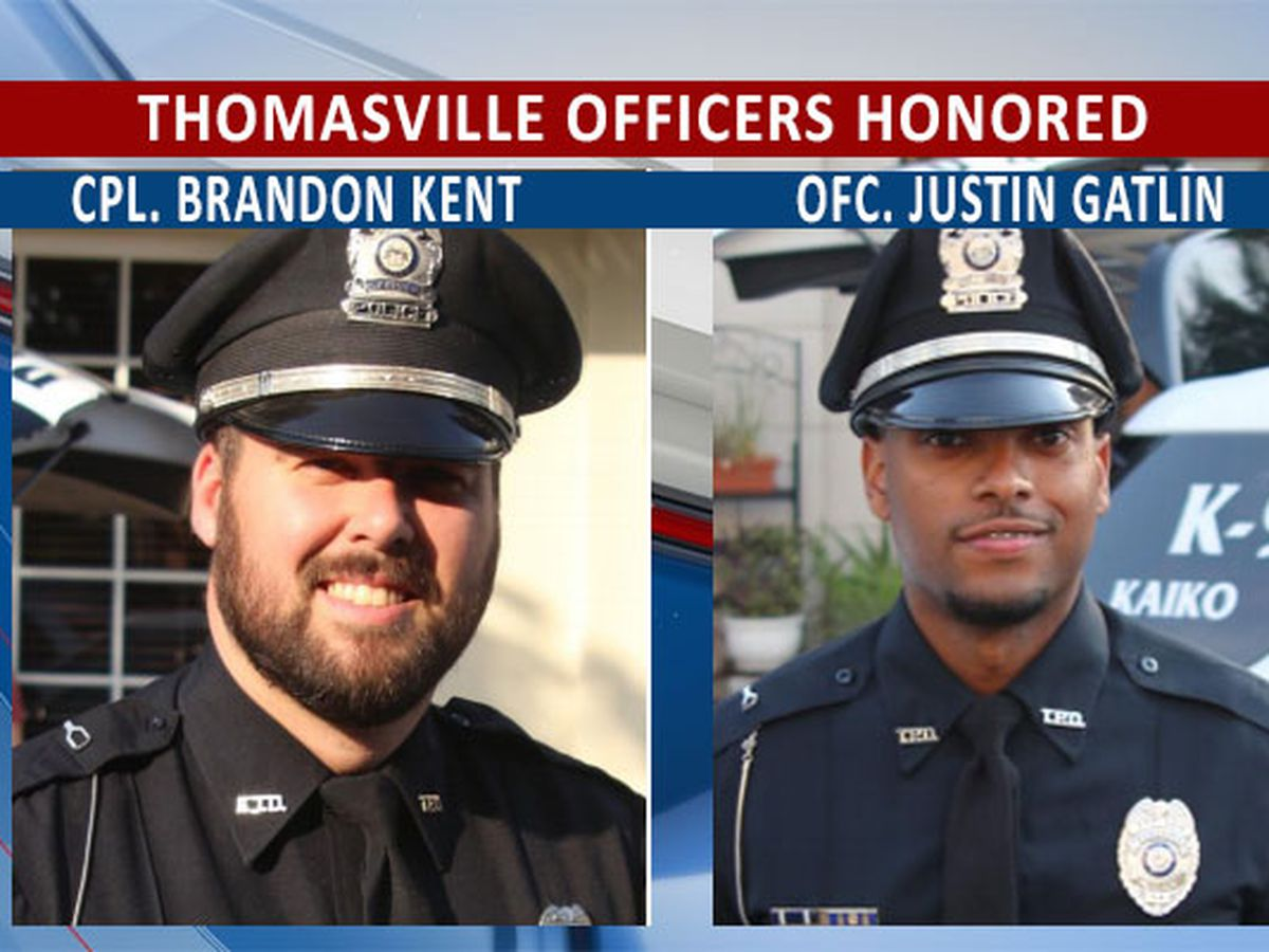 Thomasville officers commended by city