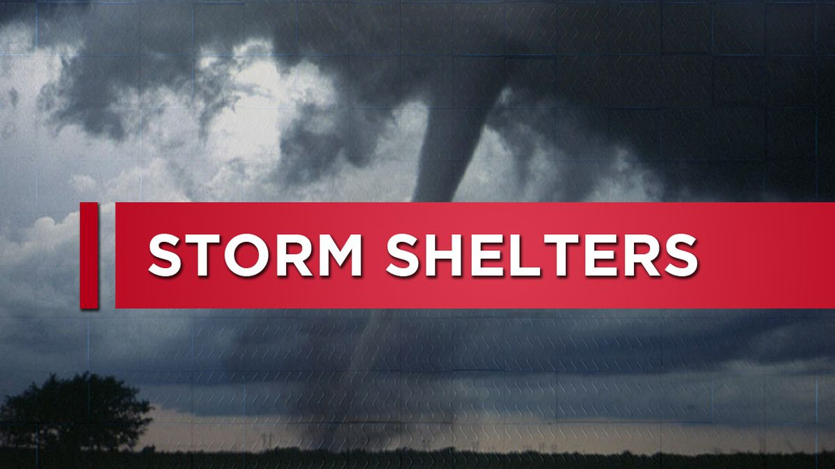 Shelters and comfort stations open ahead of severe weather