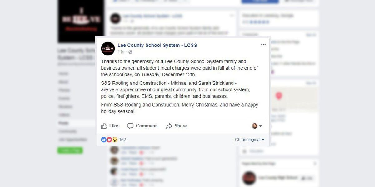 South GA business owner pays off lunch charges for entire school system