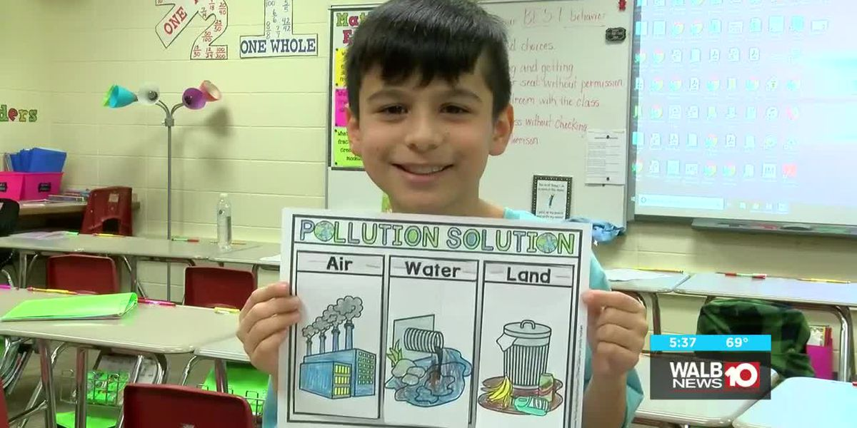 9-year old student working toward a cleaner Lee County