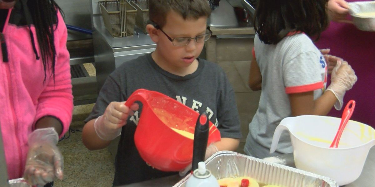Valdosta kids are cooking in the kitchen at culinary summer camp