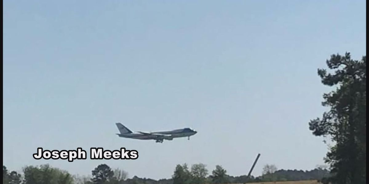 President's plane lands at Moody AFB for testing