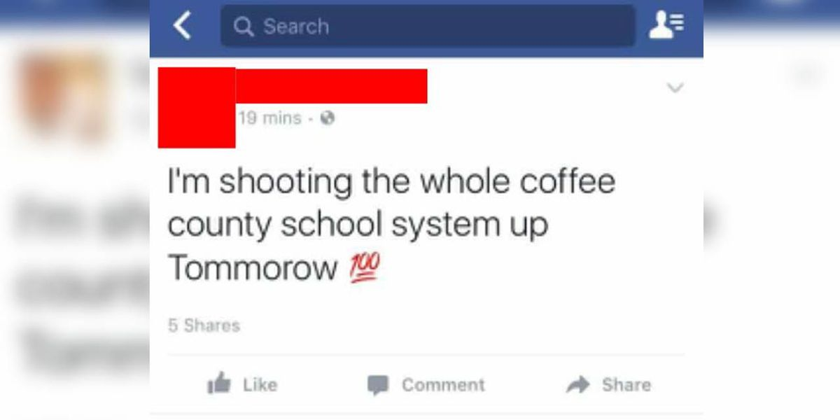 Coffee Co. teen arrested for school threat