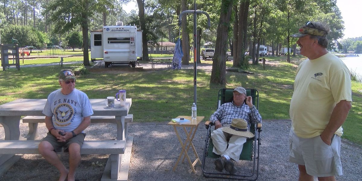 Veterans State Park is packed for holiday weekend